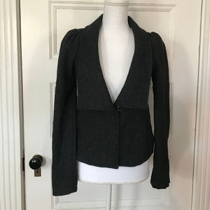 Free People Gray Wool blend Blazer Jacket